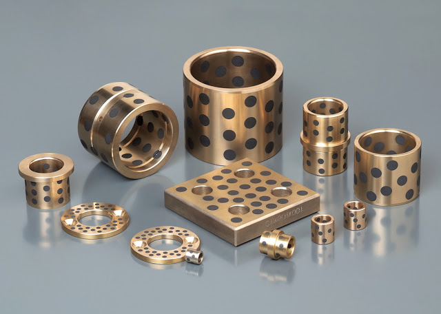 Custom Bronze Parts With Graphite Lubrication Examples